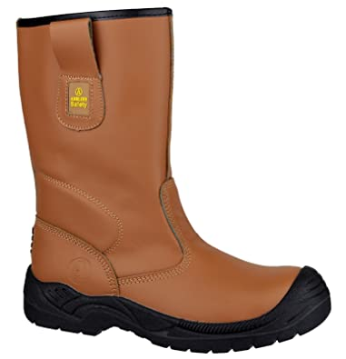 3fbcfa4b7fa Amblers Safety FS142 Unisex S3 Safety Rigger Boots Tan: Amazon.co.uk ...
