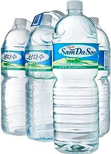 Samdasoo Jeju Mineral Water, 2L, (Pack of 6)