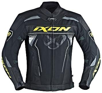 Ixon – Chaqueta Moto – Ixon Frantic, color negro/blanco/amarillo