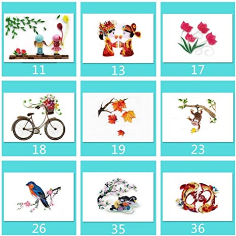 YURROAD Paper Quilling Making Design Drawings