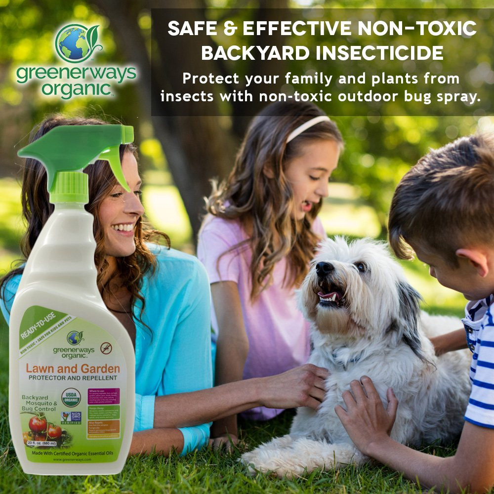 Greenerways Organic Backyard Insect Repellent Mosquito Repellant Buds Organics Mozzie Clear Spray 100ml And Natural Bug Concentrate Safe For Kids Pets Deet Free