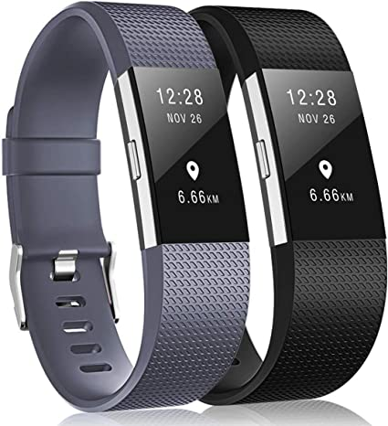 Sangle De Remplacement pour Le Fitbit Charge 2 Disponible en 15 Couleurs Yousave Accessories Bracelet De Rechange Compatible pour Fitbit Charge 2