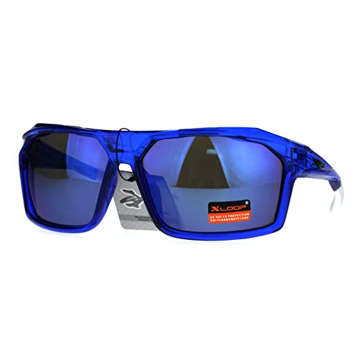 c66d5a589a Amazon.com  Xloop Mens Sunglasses Sport Fashion Rectangle Wrap Frame ...