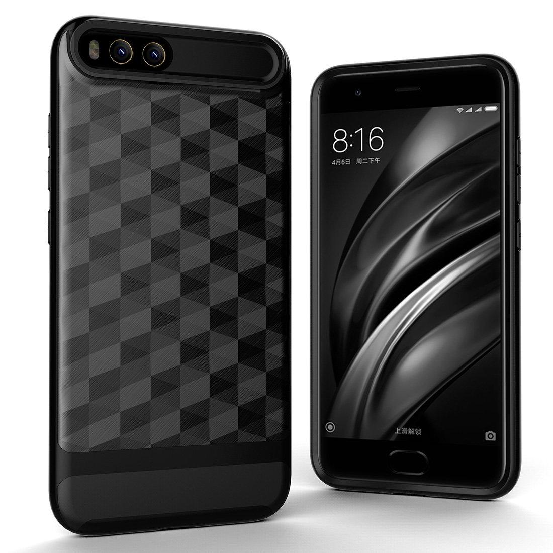 Obudowa Xiaomi Mi 6, HICASER Prism Hybrid odporna na wstrząsy Miękka TPU + PC Rama zderzaka Ochronna obudowa Case dla Xiaomi Mi 6 Czarny