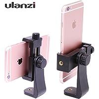 Ulanzi スマートフォンホルダー 自撮り棒対応 デスクトップ 三脚大型ポータブル ユニバーサル360度回転可能 携帯クリップ
