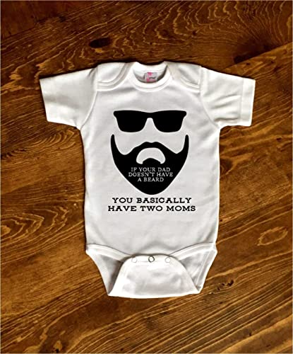 5953b181 Image Unavailable. Image not available for. Color: Funny If Your Dad  Doesn't Have A Beard Toddler Kids Tee Shirt ...