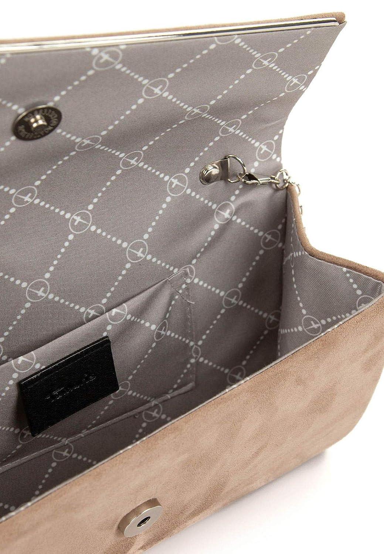 Tamaris Clutches handväska Amalia 30457 grå L = 7 cm H = 7 cm B = 13,5 cm toupe