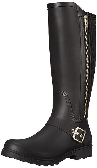 Steve Madden Women's Northpol Rain Shoe, Black, ...