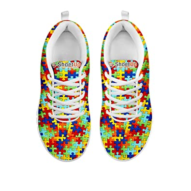 e436b4e9d4393f Women s Sneakers - Autism Symbol Print Women s Casual Running Shoes ...
