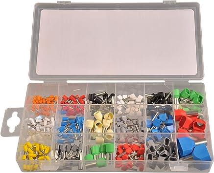 300 piezas surtido terminales 0,5 – 16 mm² aislado individualmente + Twin en caja de plástico: Amazon.es: Bricolaje y herramientas
