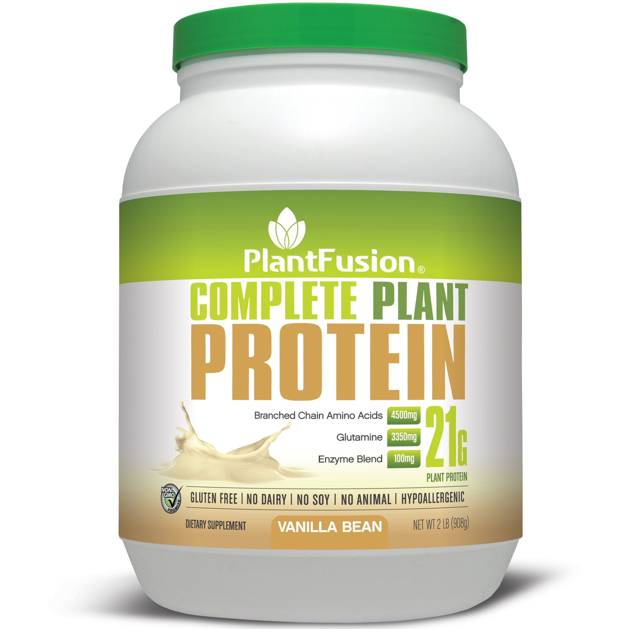 PlantFusion Complete Plant Based Protein Powder, Vanilla Bean, 2 Lb Tub, 30 Servings, 1 Count, Gluten Free, Vegan, Non-GMO, Packaging May Vary