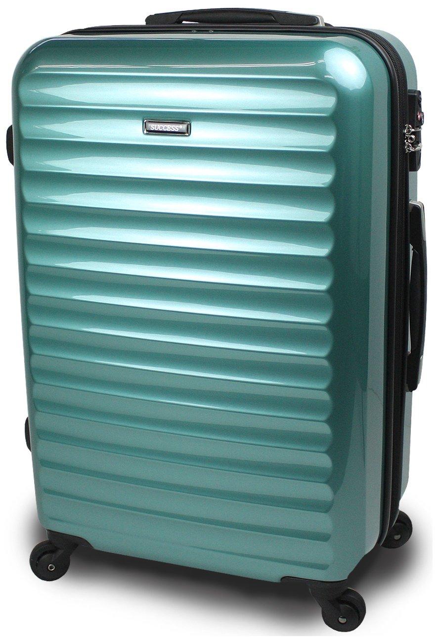 【SUCCESS サクセス】 スーツケース 3サイズ( 大型  中型  小型 ) 超軽量 キャリーバッグ TSAロック 搭載 【 ヴィアーノ2016 ダブルファスナーモデル 】 鏡面ミラー加工 B00CLR8CQE 中型 67cm|ニューマリン ニューマリン 中型 67cm