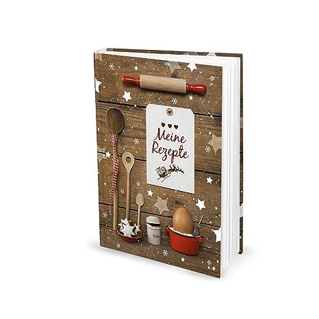 Geschenke Rezepte Weihnachten.Din A5 Hardcover Rezeptbuch Selberschreiben Meine Rezepte Weihnachtsplätzchen Weihnachtsgebäck Plätzchen Rezepte Weihnachten Backen Backbuch
