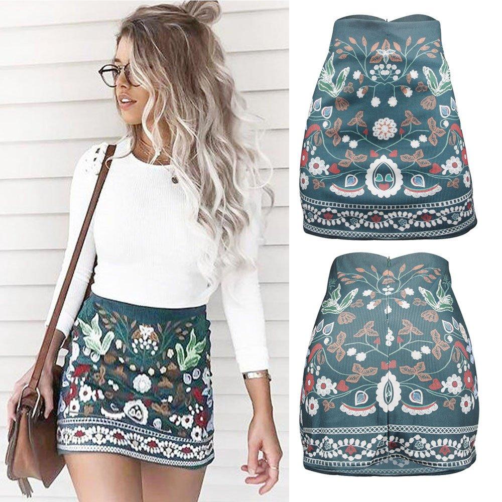 New Women High Waist White A-Line Button Front Mini Skirt UK 8-14