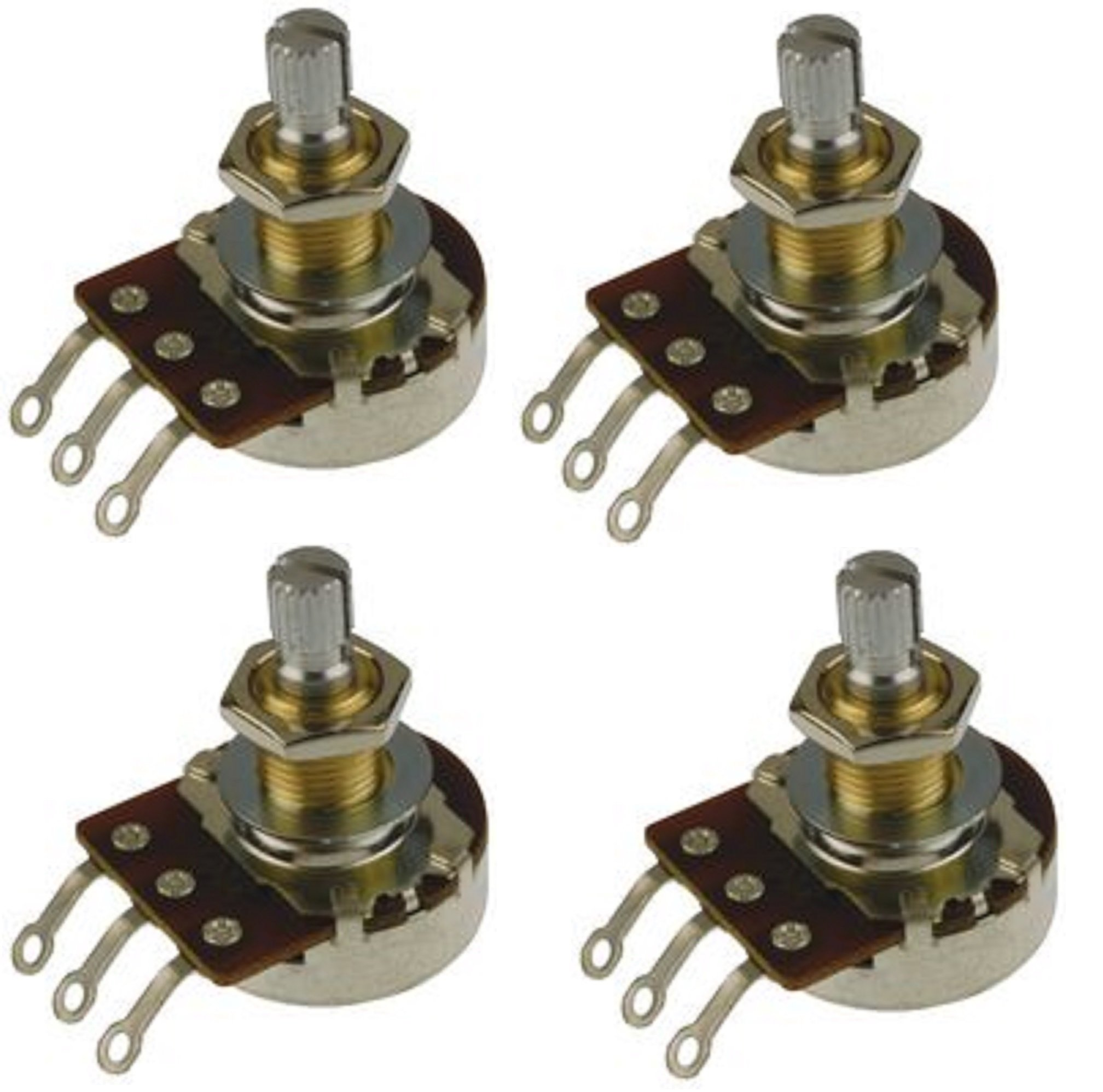Bourns 500K Pro Audio Long Life Short Split Shaft Audio Taper Pot/Potentiometer - Set of Four (4X) by Bourns (Image #1)