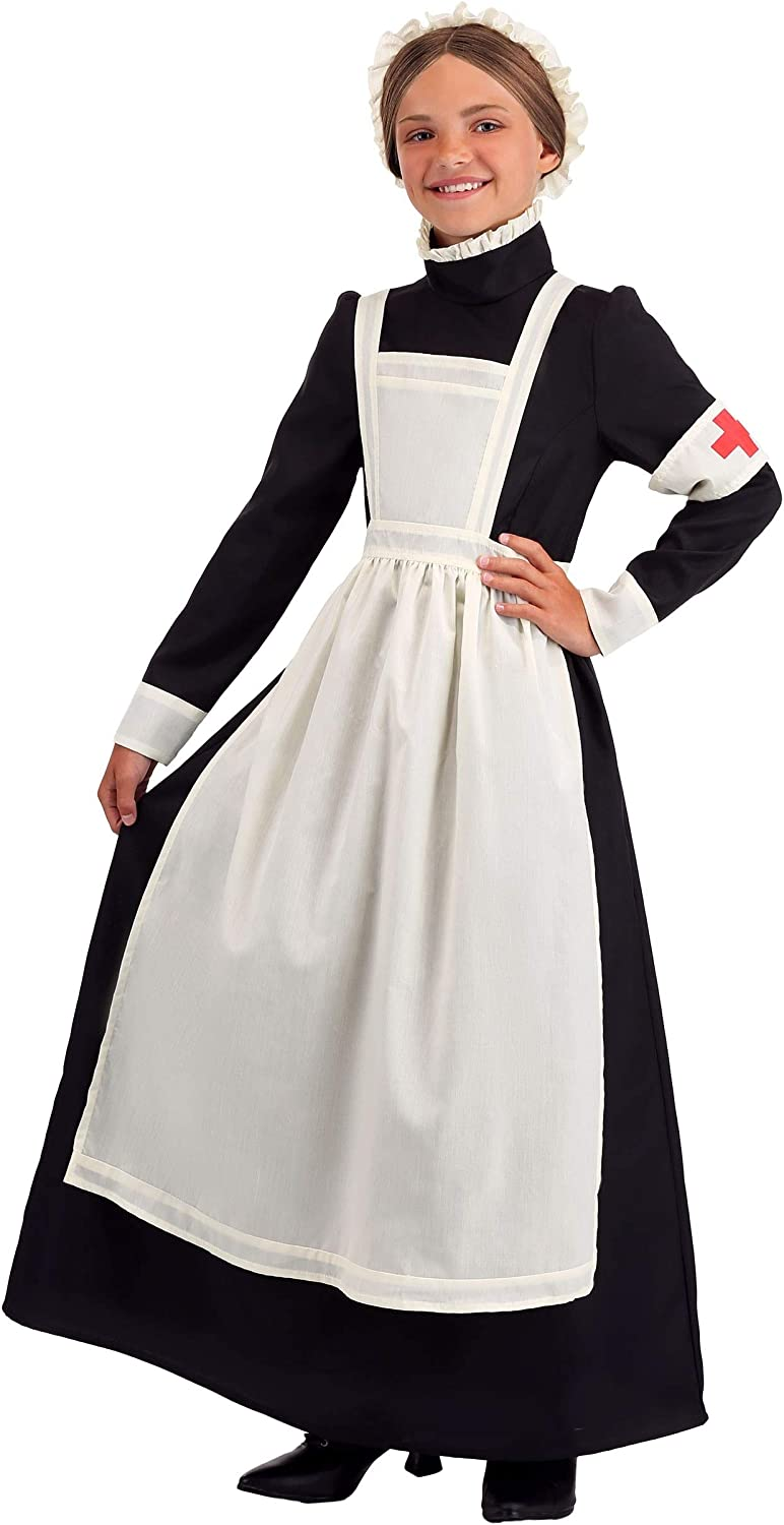 Historical Costume Florence Nightingale Dress ~Black Civil War Nurse~ Child Size