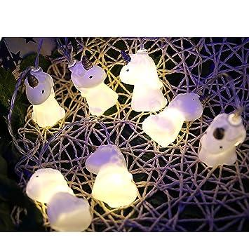 Colorfulworld Licorne Guirlandes lumineuses LED bande LED citrouille  Halloween Décoration Fête de piles (Licorne)