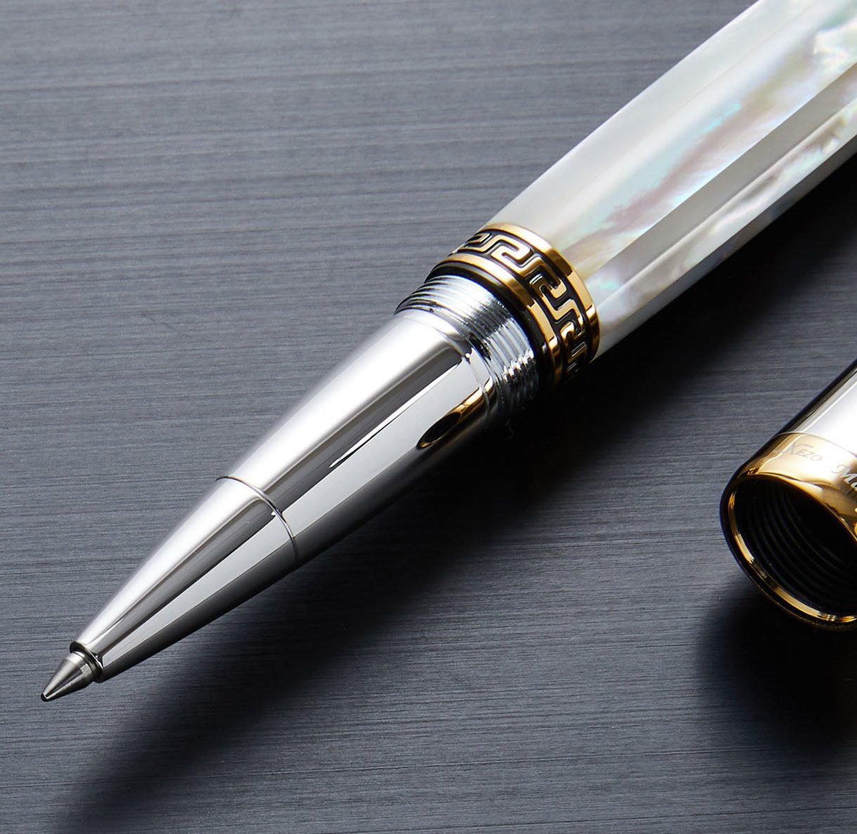 Xezo Maestro - Bolígrafo de punta fina con acabado de nácar y platino: Amazon.es: Oficina y papelería