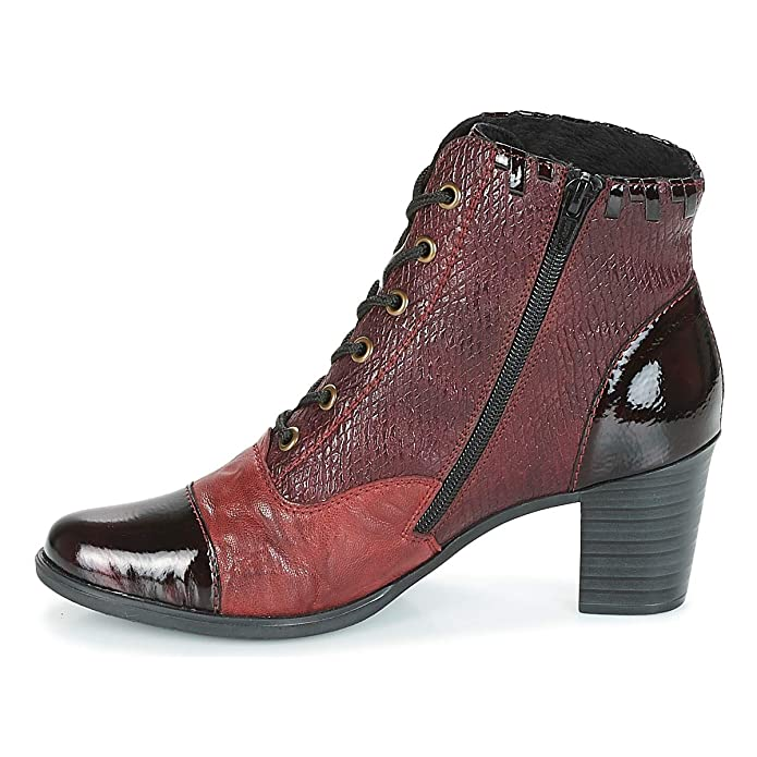 Rieker Damen Stiefeletten Ankle Boot in Bordo Y8938 35 rot 592753