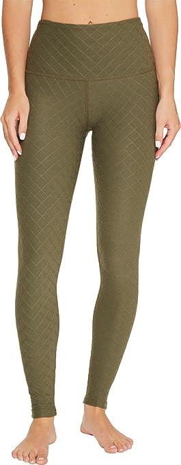a10f0425a9b883 Beyond Yoga Women's Can't Quilt You High Waisted Leggings Aviator Green  Pants