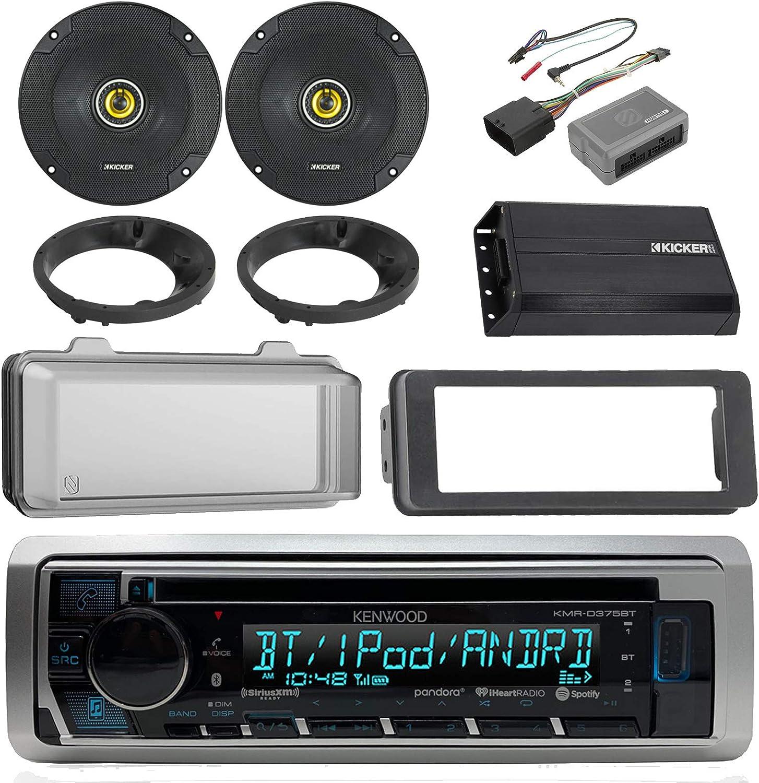 Kenwood Bluetooth CD AM/FM estéreo marino, 2 x Kicker 600 W 6 – 1/2