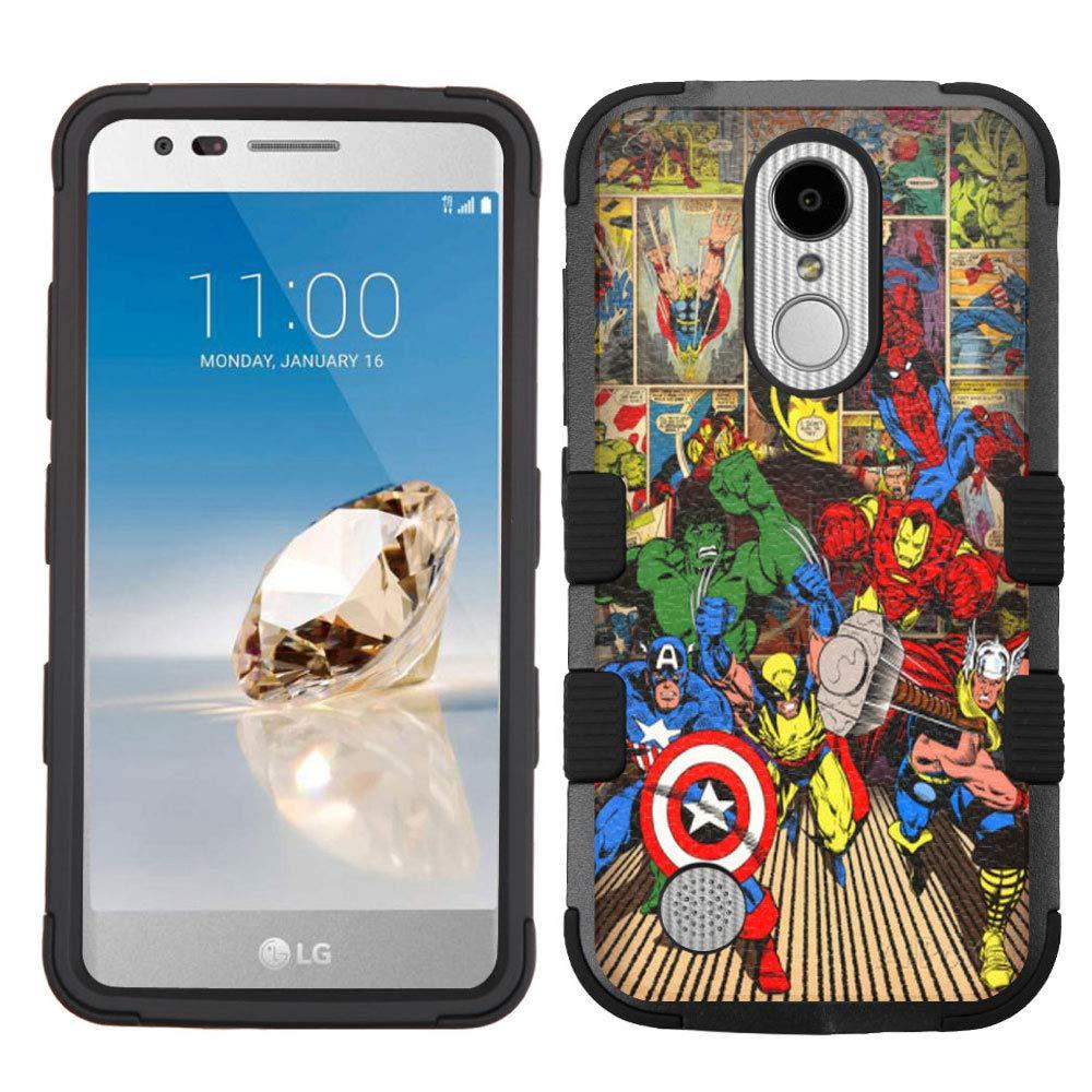 LG Aristo Case,LG Aristo 2 Case,LG Rebel 3 LTE Case,LG Aristo 2 Plus/LG Tribute Dynasty/Zone 4/Fortune 2/Phoenix 3/Rebel 2 LTE/K8+ Plus Case, Rugged Case - Superheroes #ZC