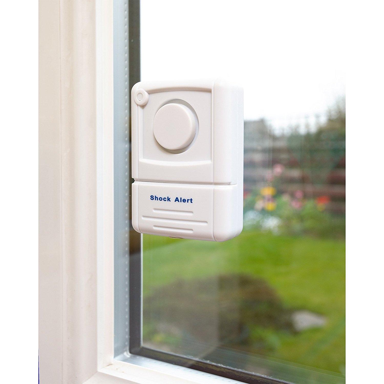 tecnolog/ía de sensor de choque 110/dbs para detectar entrada forzada y roturas de cristal Alarma para ventana Defender con pegativa para disuadir robos