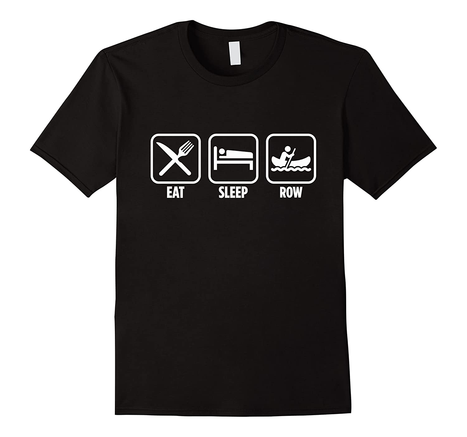 Eat Sleep Row Funny College Rowing T-Shirt-RT