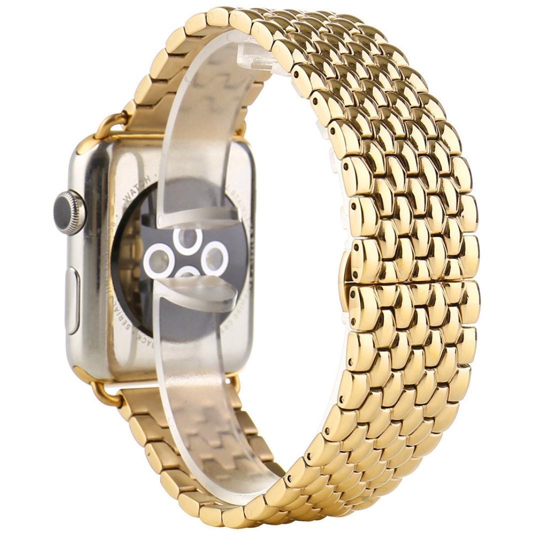 Ankola for Apple Watchシリーズ1 / 2バンド高級ステンレススチールリンクブレスレット腕時計ストラップ 42mm ゴールド 42mm ゴールド ゴールド 42mm B071VVWFV1
