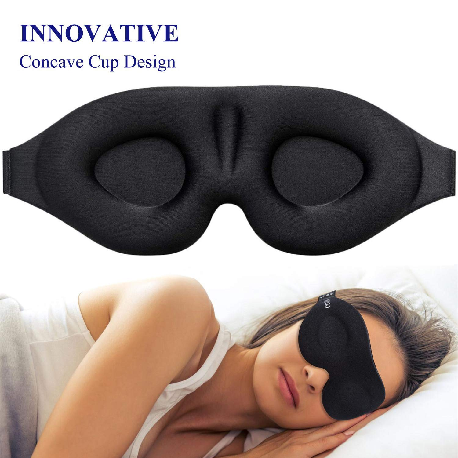 Sleep Mask for Women Men, Eye mask for Sleeping 3D Contoured Cup Blindfold, Concave Molded Night Sleep Mask, Block Out Light, Soft Comfort Eye Shade Cover for Yoga Meditation by YIVIEW