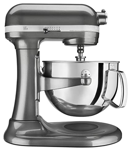 KitchenAid Professional 600 Series KP26M1XER Bowl Lift Stand Mixer, 6 Quart,  Liquid Graphite