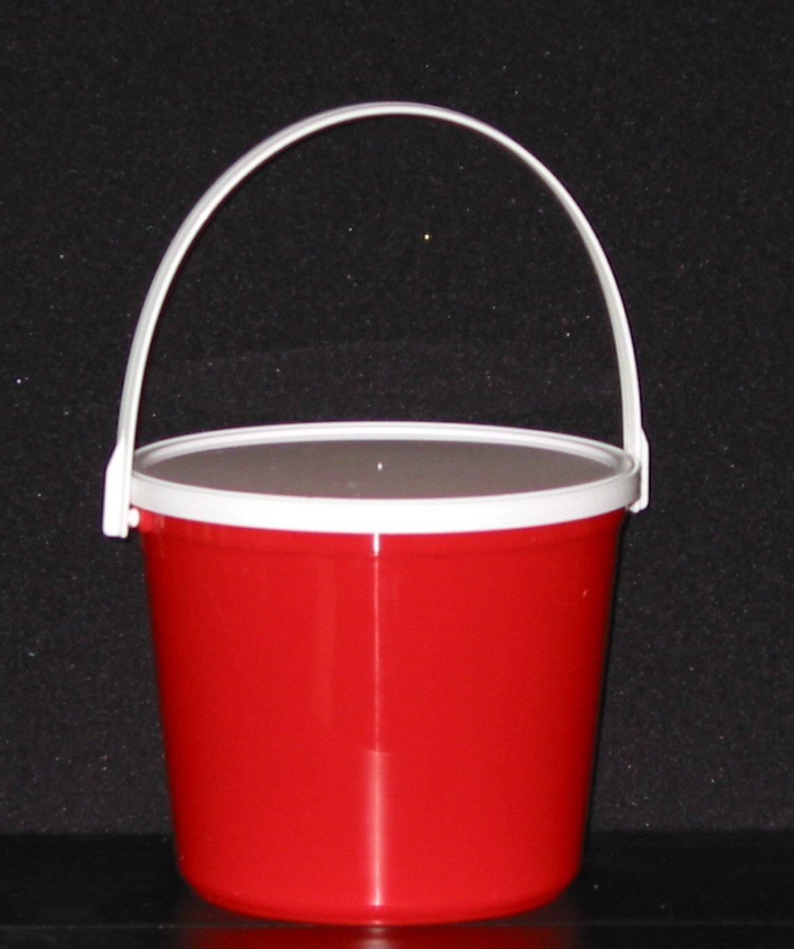 Plastic Buckets & Lids, 80 Ounces, 6 Pack,1 each Red Blue Yellow Orange Purple & Green by Talisman (Image #5)