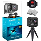 EKEN H6s Ultra HD Action Camera 4K+ 14MP with EIS 100ft Underwater Waterproof Cam Remote Sports Camcorder Panasonic Sensor 170° Angle Lens with 2 Batteries Accessories Kit and Tripod