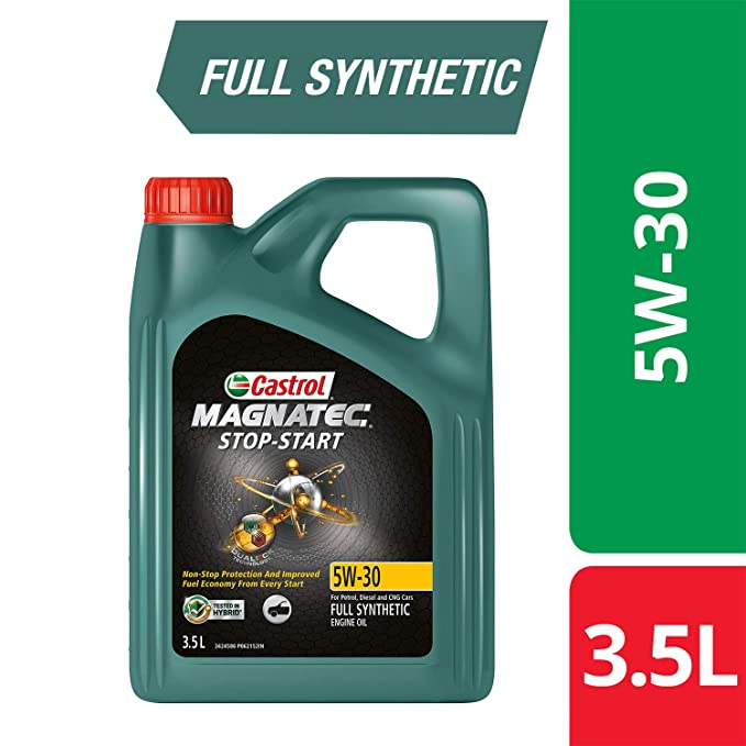 Castrol Magnatec Stop Start 5w 30 Full Synthetic Engine Oil For Petrol Diesel And Cng Cars 3 5l 3416662 Amazon In Car Motorbike