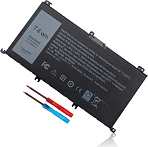 74Wh Type 357F9 71JF4 Battery Compatible with Dell Inspiron 15 7000 7559 7557 7567 7566 7759 15 5576 5577 INS15PD Series 15-7559 0GFJ6 P57F 071JF4 0357F9 6 Cell 11.1V 11.4V Li-ion Laptop Battery New