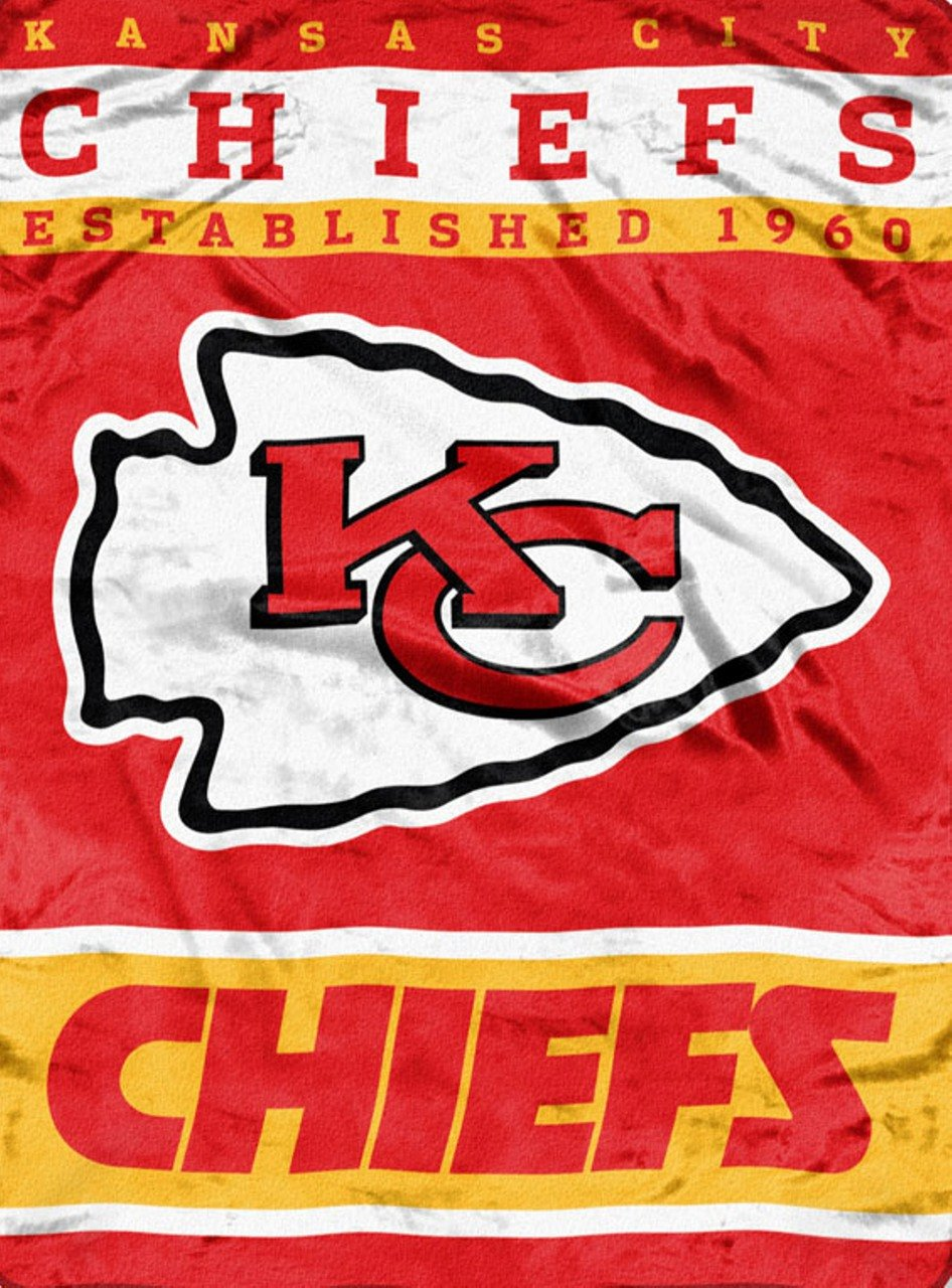 NFL Kansas City Chiefs Soft Raschel Throw Blanket