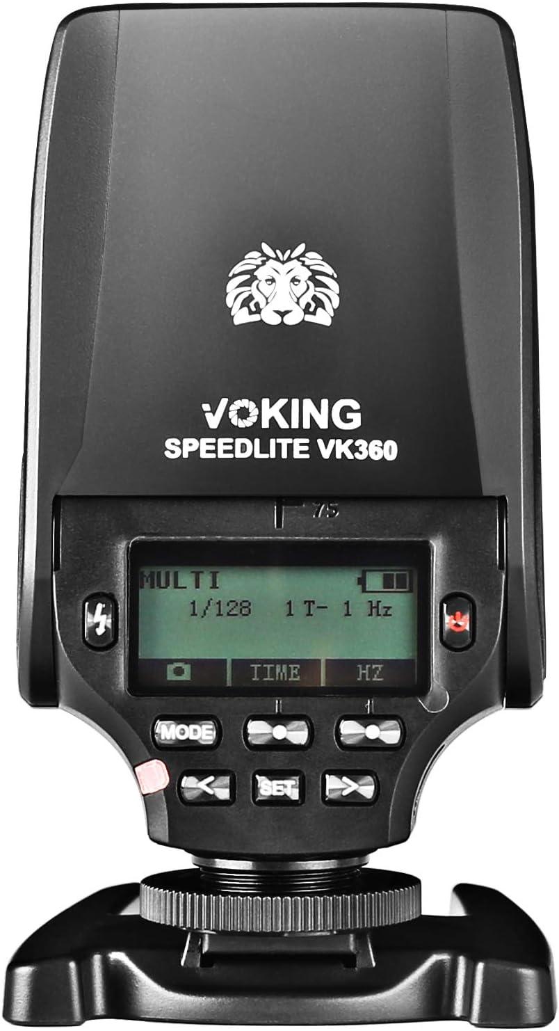 Voking VK360P TTL Master HSS Flash Speedlite for Panasonic Lumix DMC GX85 GH3 GH4 GH5 G85 GH5S GF7 GM5 GH4 GM1 GX7 G7 G6 GF6 Cameras