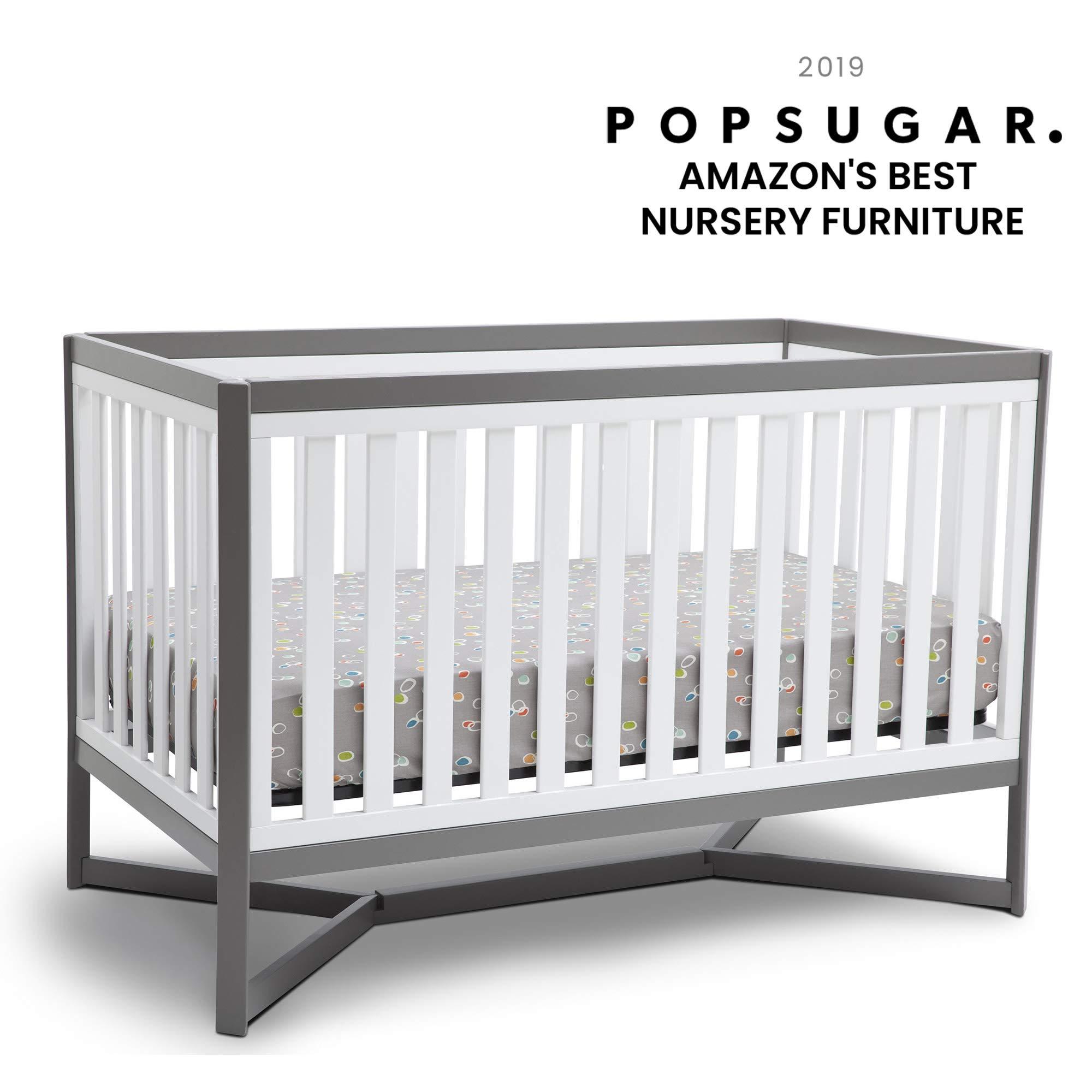 Delta Children Tribeca 4-in-1 Baby Convertible Crib, White/Grey by Delta Children