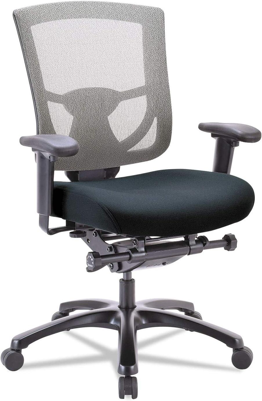 Tempur-Pedic by Raynor TP600GY 600 Mesh-Back Multifunction Chair, Black Fabric Seat/Slate Mesh
