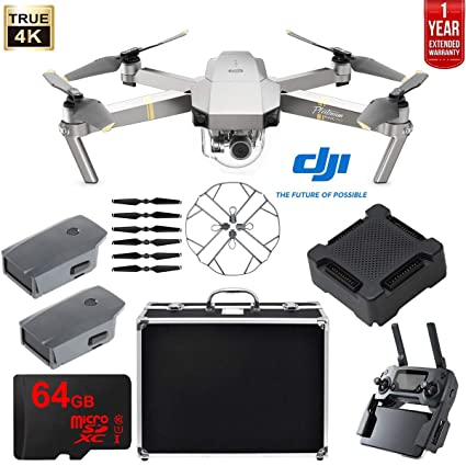 ea0efd14707 DJI Mavic Pro Platinum Quadcopter Drone Extended Flight Package w/Extra  Battery, Custom Hard
