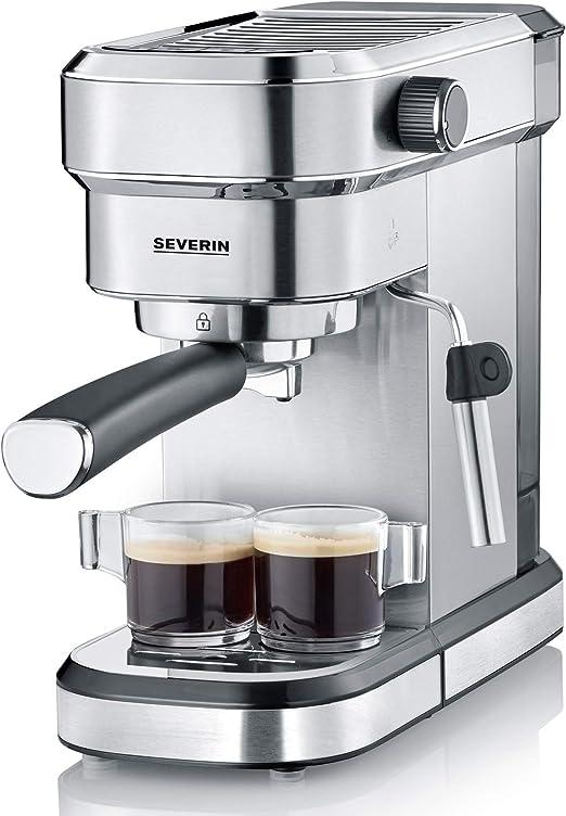 Severin KA 5994 Espresa - Cafetera espresso, 1350 W, 1.1 L, acero ...