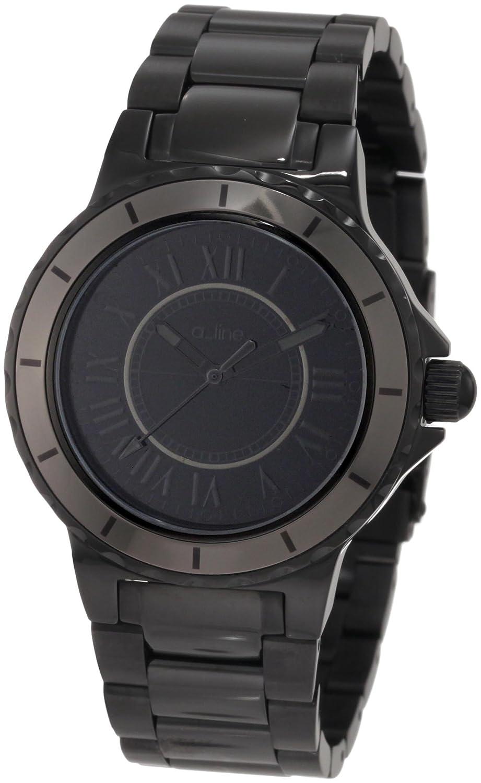 A Line – al-20016 – Armbanduhr – Quarz Analog – Armband Edelstahl vergoldet schwarz
