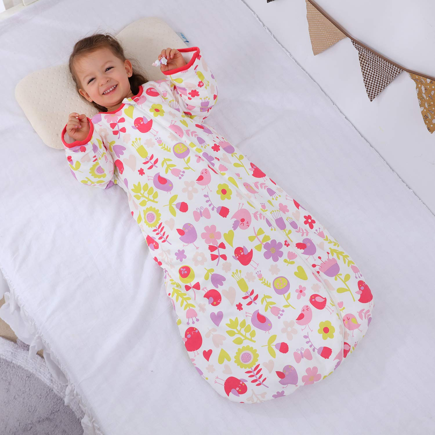S//3-6 Months, GreenBear Baby Winter Sleeping Bag Kids Sleeping Bag 3.5 Tog Organic Cotton Sleeping Bag Various Sizes from Birth to 4 Years Old
