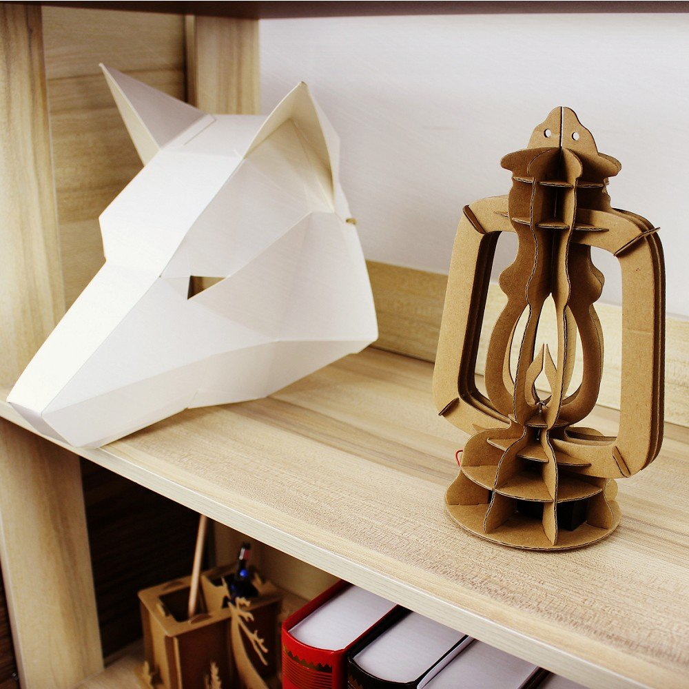 I\'m Charmer Clever Lantern Made From Cardboard with Coloring Changing,Very DIY