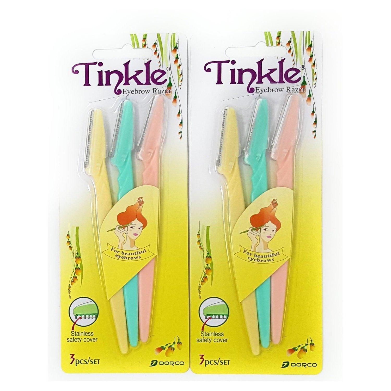 Tinkle Eyebrow Razor Pack of 6