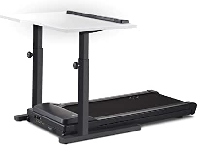 """LifeSpan TR1200-DT5 Treadmill Desk   48"""" Desktop   Charcoal Manual-Height-Adjustable Frame   Perfect for Work or Home Office"""
