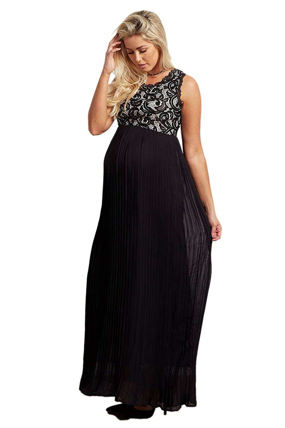 Pinkblush maternity pleated chiffon lace top maxi dress at amazon pinkblush maternity pleated chiffon lace top maxi dress at amazon womens clothing store ombrellifo Image collections