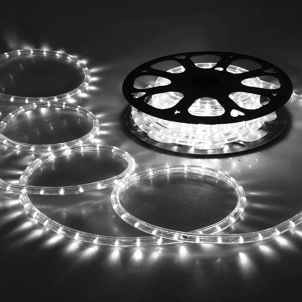 CHIMAERA 150ft Cool White 2 Wire LED Rope Light Outdoor Home Holiday Valentines Party Restaurant Cafe Decoration