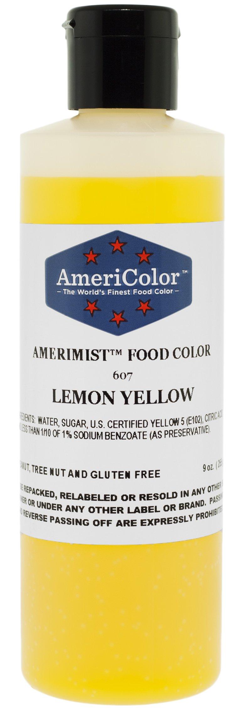 AmeriColor AmeriMist Lemon Yellow Airbrush Food Color, 9 oz