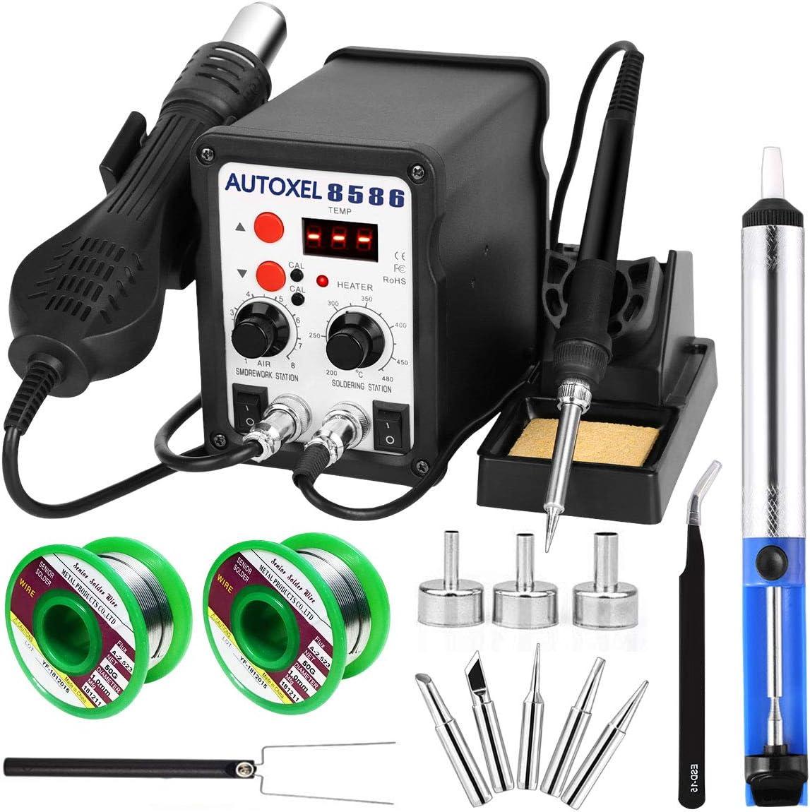 Hot Air Rework Station Kit with Digital Display SMD Desoldering Rework Station f